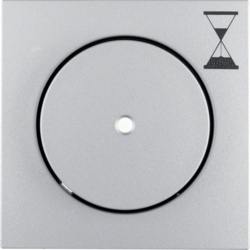 16741404 Centre plate for time relay insert Push-button with clear lens,  aluminium,  matt,  lacquered
