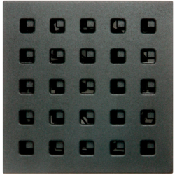 17331606 Centre plate for intercom insert Berker S.1/B.7, anthracite,  matt