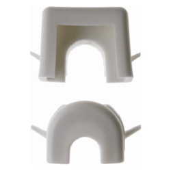 1813 Wire and duct entry Surface-mounted accessories,  white