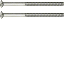 189510 Two-hole screws 2 x M3.5 x 50 mm chrome glossy,  brass galvanised