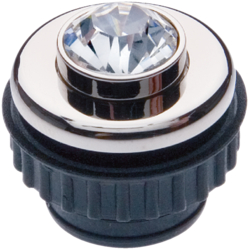 19640001 Push-button Crystal Berker TS Crystal,  chrome glossy