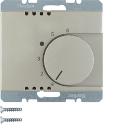 20269004 Thermostat,  change-over contact,  with centre plate Berker Arsys,  stainless steel matt,  lacquered