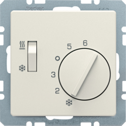 20296082 Thermostat,  change-over,  h/c,  Qx,  white