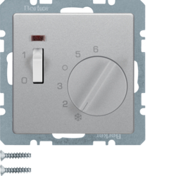 20316084 Temperature controller,  NC contact,  with centre plate,  24 V AC/DC with rocker switch