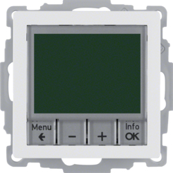 20446089 Thermostat,  NO contact,  with centre plate Time-controlled,  polar white velvety