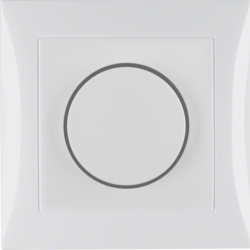 28198989 Rotary dimmer with cover plate Setting knob,  with soft-lock,  polar white glossy