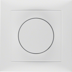 28199909 Rotary dimmer with cover plate Setting knob,  with soft-lock,  polar white matt
