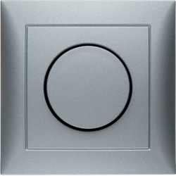 28199939 Rotary dimmer with cover plate Setting knob,  with soft-lock,  Berker S.1, aluminium,  matt,  lacquered
