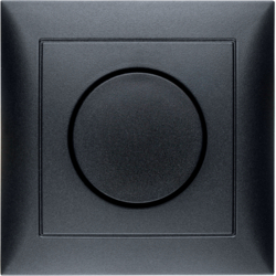 28199949 Rotary dimmer with cover plate Setting knob,  with soft-lock,  Berker S.1, anthracite,  matt