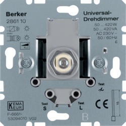 286110 Universal rotary dimmer (R,  L,  C) with soft-lock,  Light control,  others