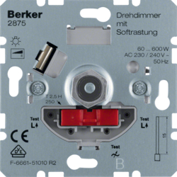 2875 Rotary dimmer 600 W with soft-lock,  Light control,  others