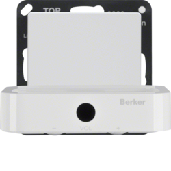 28836089 Docking station Berker Q.1/Q.3/Q.7/Q.9, polar white velvety
