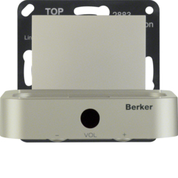 28838916 Docking station Berker S.1/B.3/B.7, stainless steel matt,  lacquered