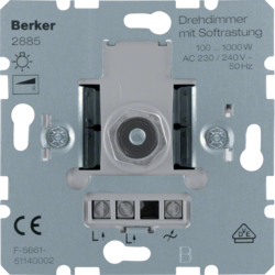 2885 Rotary dimmer 1000 W with soft-lock,  Light control,  others