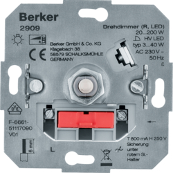 2909 Rotary dimmer (R,  LED) with soft-lock,  others