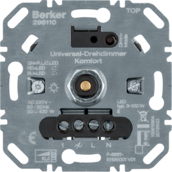296110 Universal rotary dimmer (R,  L,  C,  LED) with soft-lock,  Light control