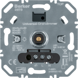 2973 Universal rotary dimmer (R,  L,  C,  LED) with soft-lock,  Light control