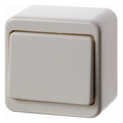 300640 Change-over switch surface-mounted Surface-mounted,  white glossy