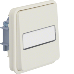 30863532 Change-over switch insert with rocker surface-mounted/flush-mounted with labelling field - illuminated,  Berker W.1, polar white matt