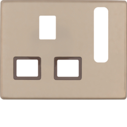 3313070001 Centre plate for socket outlets,  British Standard,  can be switched off Berker Arsys