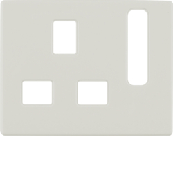 3313070002 Centre plate for socket outlets,  British Standard,  can be switched off Berker Arsys,  white glossy