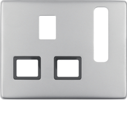 3313070004 Centre plate for socket outlets,  British Standard,  can be switched off Berker Arsys