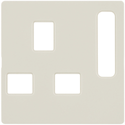 3313076082 Centre plate for socket outlets,  British Standard,  can be switched off