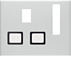 3313077013 Centre plate for socket outlets,  British Standard,  can be switched off Berker K.5, Aluminium,  aluminium anodised