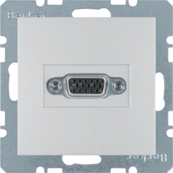 3315401404 VGA socket outlet aluminium,  matt,  lacquered