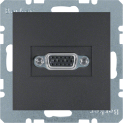 3315401606 VGA socket outlet anthracite,  matt