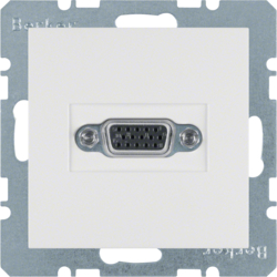 3315401909 VGA socket outlet polar white matt