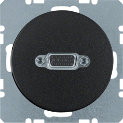 3315402045 VGA socket outlet black glossy