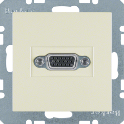 3315408982 VGA socket outlet white glossy