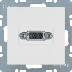 3315408989 VGA socket outlet polar white glossy