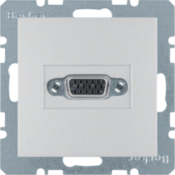 3315411404 VGA socket outlet with screw-in lift terminals,  aluminium,  matt,  lacquered