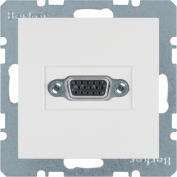 3315411909 VGA socket outlet with screw-in lift terminals,  polar white matt