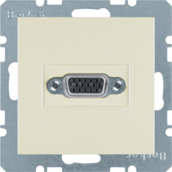 3315418982 VGA socket outlet with screw-in lift terminals,  white glossy