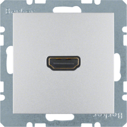 3315421404 High definition socket outlet aluminium,  matt,  lacquered