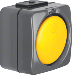 3446 Change-over switch surface-mounted with clear lens,  Isopanzer IP44, dark grey/yellow