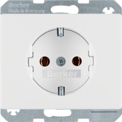 41150069 SCHUKO socket outlet with screw-in lift terminals,  Berker Arsys,  polar white glossy