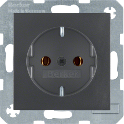41431606 SCHUKO socket outlet with screw-in lift terminals,  anthracite,  matt