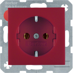 41431912 SCHUKO socket outlet with screw-in lift terminals,  red matt