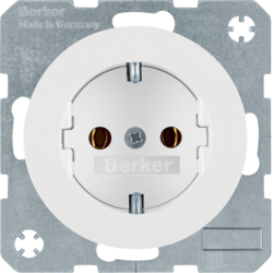 41432089 SCHUKO socket outlet with screw-in lift terminals,  polar white glossy