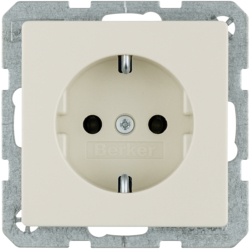41436082 SCHUKO socket outlet with screw-in lift terminals