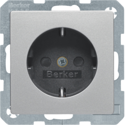 41496084 SCHUKO socket outlet with labelling field,  enhanced contact protection,  Screw-in lift terminals
