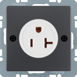 41686086 Socket outlet with earthing contact USA/CANADA NEMA 5-20 R with screw terminals,  anthracite velvety,  lacquered