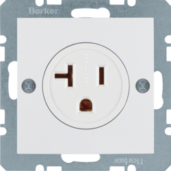 41688989 Socket outlet with earthing contact USA/CANADA NEMA 5-20 R with screw terminals,  polar white glossy