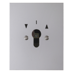 4412 Switch for blinds 2pole with imprint flush-mounted for lock cylinder with screw terminals,  Die-Cast IP44