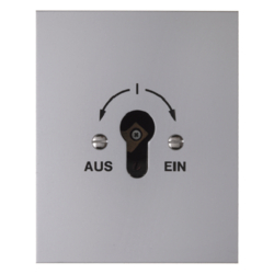 4416 Change-over switch 2pole with imprint flush-mounted for lock cylinders with screw terminals,  Die-Cast IP44