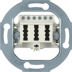 450002 TAE socket outlet 3x6 NFN Communication technology,  white matt